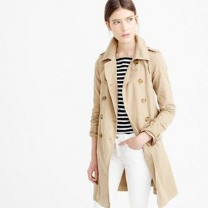 JCrew Washed Trench Coat NWT